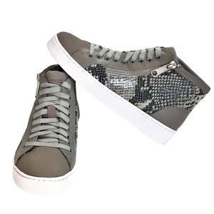 Vionic Splendid Torri 7 Zip Lace Up Sneaker Gray